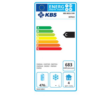 Edelstahl-Volltür-Kühlschrank - 600l - Umluftkühlung