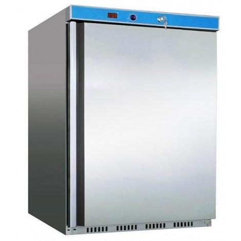 Edelstahl-Volltür-Tiefkühlschrank - 129l - Stille Kühlung