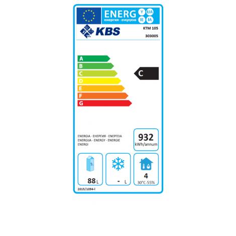 KBS - Kühltisch KTM 105 - 1 Tür - GN1/1 - Edelstahl - energiesparend
