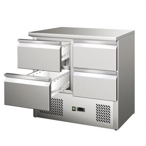 KBS - Kühltisch KTM 204 - 4 Schubladen - GN1/1 - Edelstahl - energiesparend