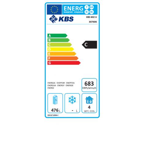 Volltür-Kühlschrank - 600l - Umluftkühlung