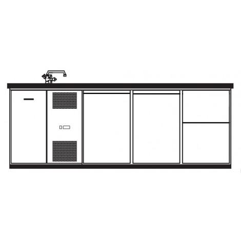 KBS Getränketheke Bristol mit 2 Türen und 2 Schubladen