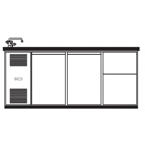 KBS Getränketheke London mit 2 Türen und 2 Schubladen