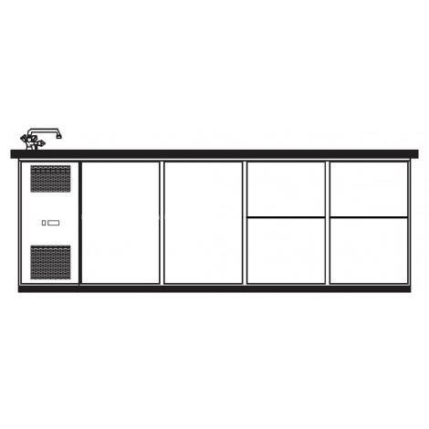 KBS Getränketheke Palermo mit 2 Türen und 4 Schubladen