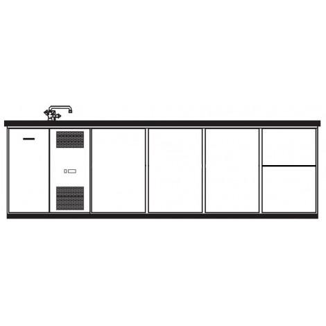 KBS Getränktheke Napoli mit 3 Türen und 2 Schubladen