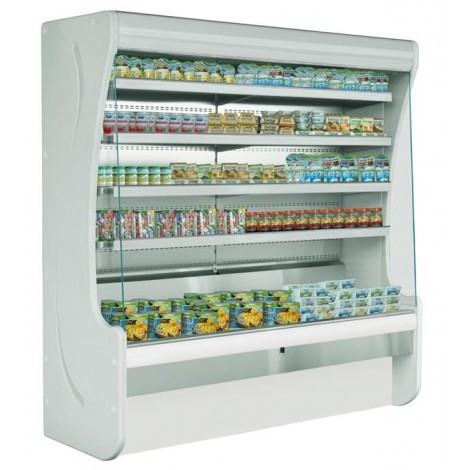 KBS Wandkühlregal Paros 100, grau, mit Umluftkühlung und LED-Beleuchtung, 520103