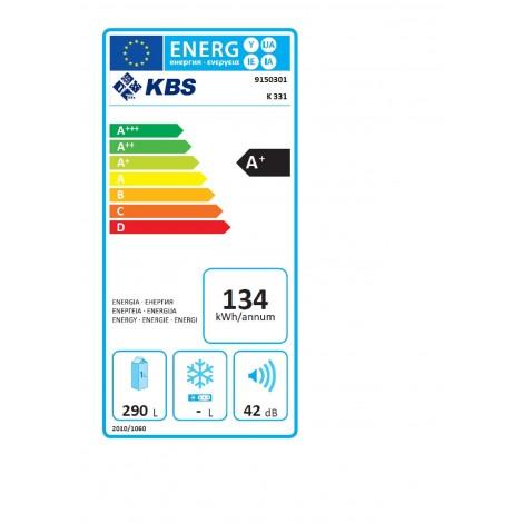 KBS Volltürkühlschrank K 331, weiss, mit Stiller Kühlung und LED-Beleuchtung, 9150301