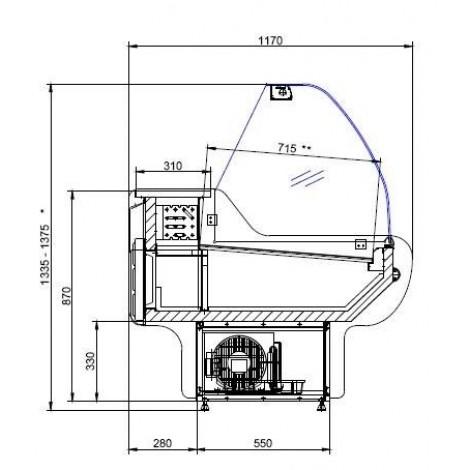Kühltheke Space 1700