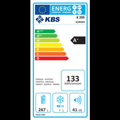 KBS Energiespar-Kühlschrank K 295, weiss, mit Stiller Kühlung und keine Beleuchtung, 9190295