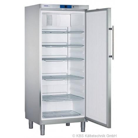 KBS Umluft Gewerbekühlschrank GKv 5760 CHR, Edelstahl, mit Umluftkühlung und keine Beleuchtung, 40515760