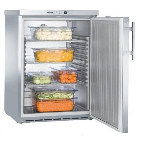 KBS Kühlschrank unterbaufähig FKUv 1660 CHR, Edelstahl, mit Umluftkühlung und keine Beleuchtung, 40511660