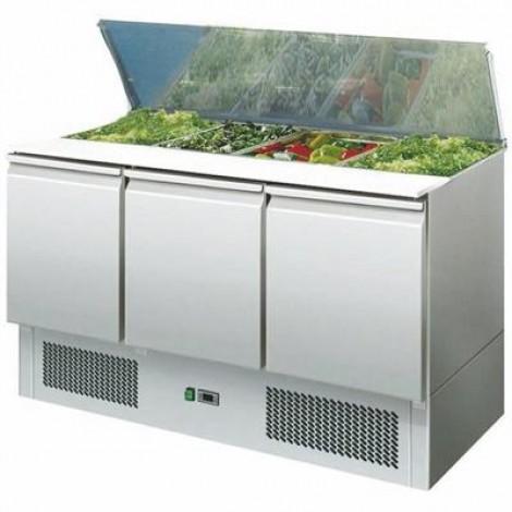 Saladette 3 Türen 400 Liter GN 1/1