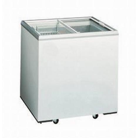 Tiefkühltruhe 200l mit Glasdeckel u. Rollen