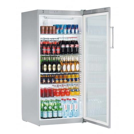 Liebherr Getränkekühlschrank FKvsl 5413, silber, mit Umluftkühlung und LED-Beleuchtung, 40515413