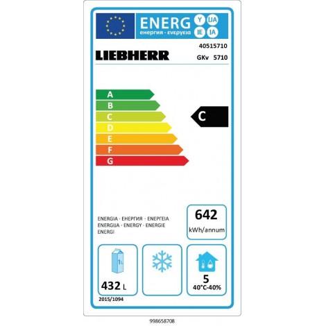 Liebherr Umluft Gewerbekühlschrank GKv 5710 W, weiss, mit Umluftkühlung und keine Beleuchtung, 40515710