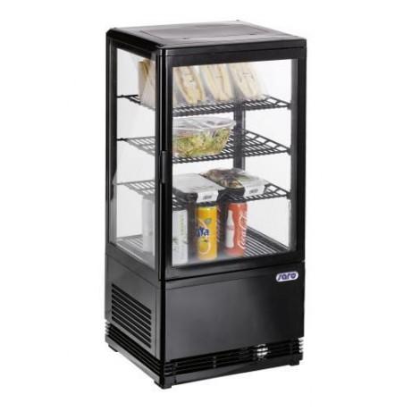 Mini-Umluftkühlvitrine SC70 Black