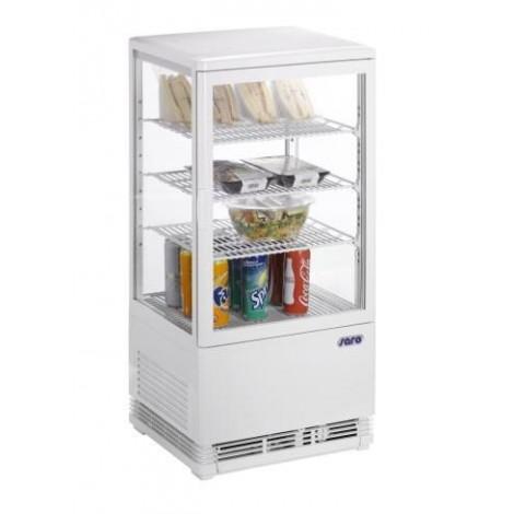 Mini-Umluftkühlvitrine SC70 white
