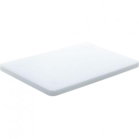 Schneidbrett mit Gummifüßen, Farbe weiß, 44 x 29 x 2 cm (BxTxH)