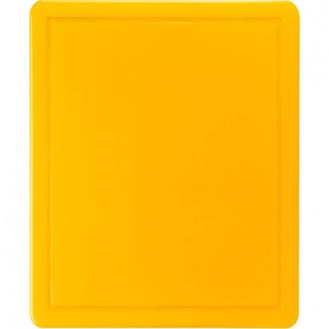 Schneidbrett, HACCP, Farbe gelb, 450 x 300 x 13 mm (BxTxH)