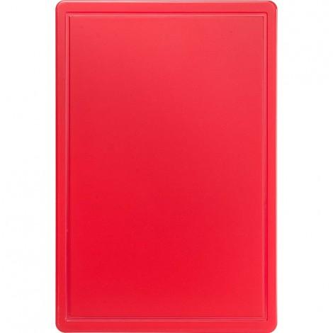 Schneidbrett, HACCP, Farbe rot, 450 x 300 x 13 mm (BxTxH)