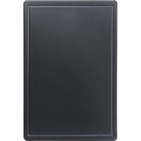 Schneidbrett, HACCP, Farbe schwarz, 450 x 300 x 13 mm (BxTxH)