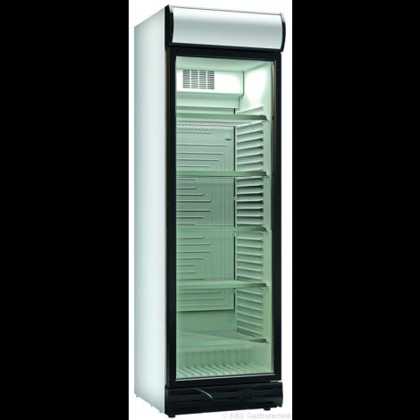 KBS Glastürkühlschrank KBS 375 GDU, weiss, mit Umluftkühlung und Beleuchtung, 60146