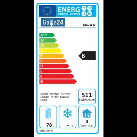 GastroStore - Volltür-Kühlschrank - K20 - 200l - Umluftkühlung