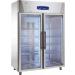 Friulinox Glastürkühlschrank KU 1425 G, Edelstahl, mit Umluftkühlung und LED-Beleuchtung, 111448