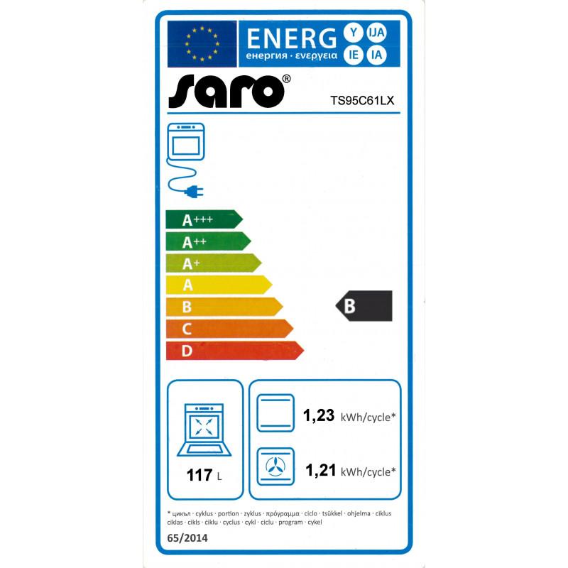 Saro Gasherd mit 5 Brennern und Elektrobackofen | GastroStore