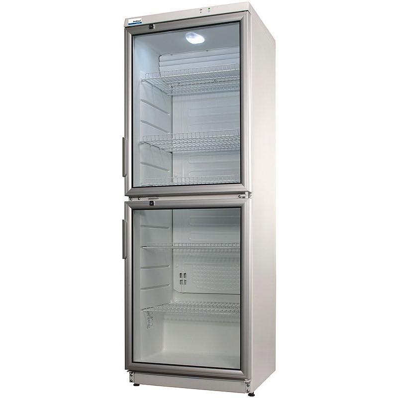 NordCap Glastürkühlschrank 350 Liter 2 Türen Flaschenkühlschrank ...