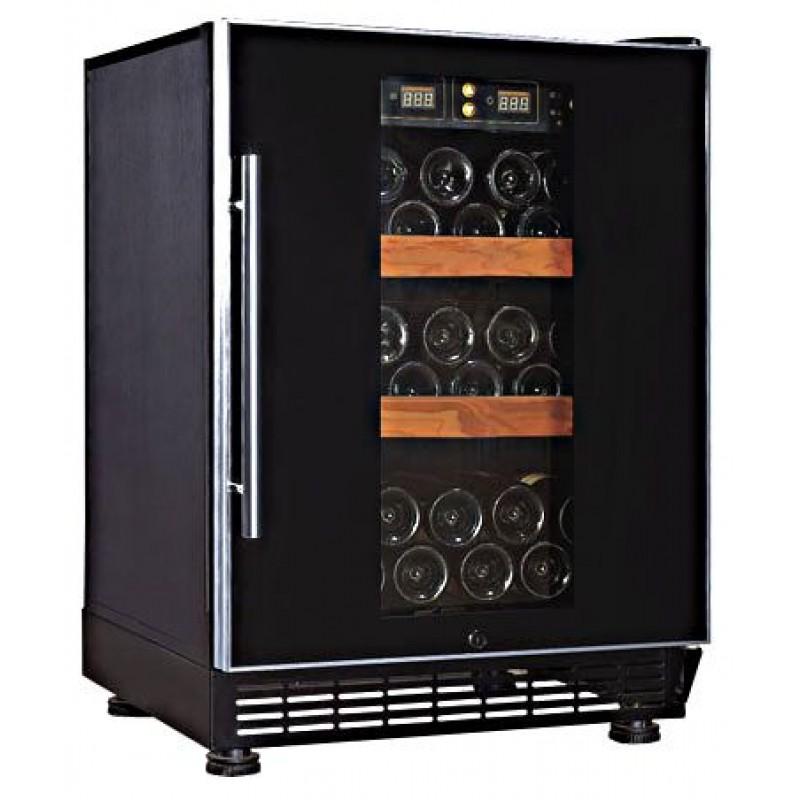 Weinkühlschrank 50 Flaschen, 2 Zonen, Schloss. Premium